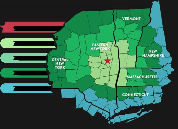 Coverage Map - Saratoga Sod