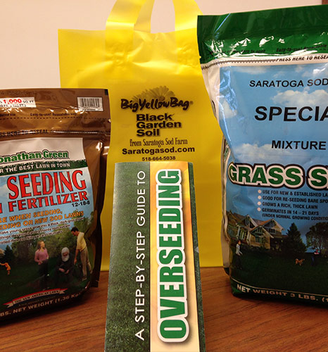 Overseeding kit addition to our Big Yellow Bag Garden Soil - Saratoga Sod