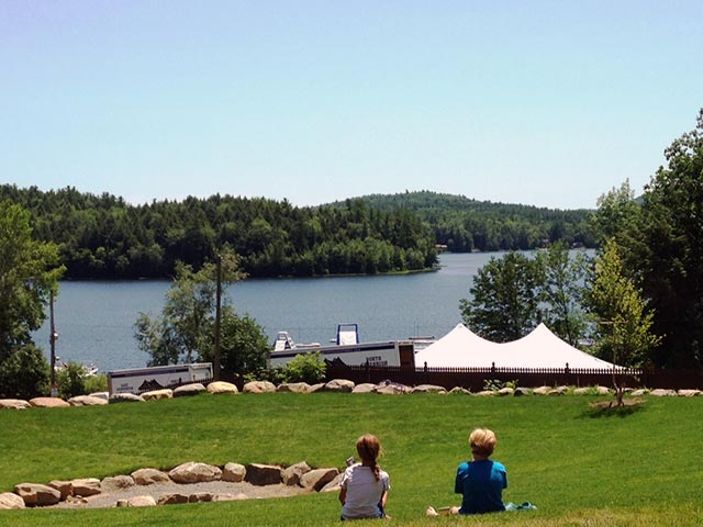 Commercial - Camp Walden - kids overlooking pond