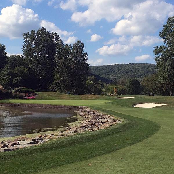 A golf course sod installation
