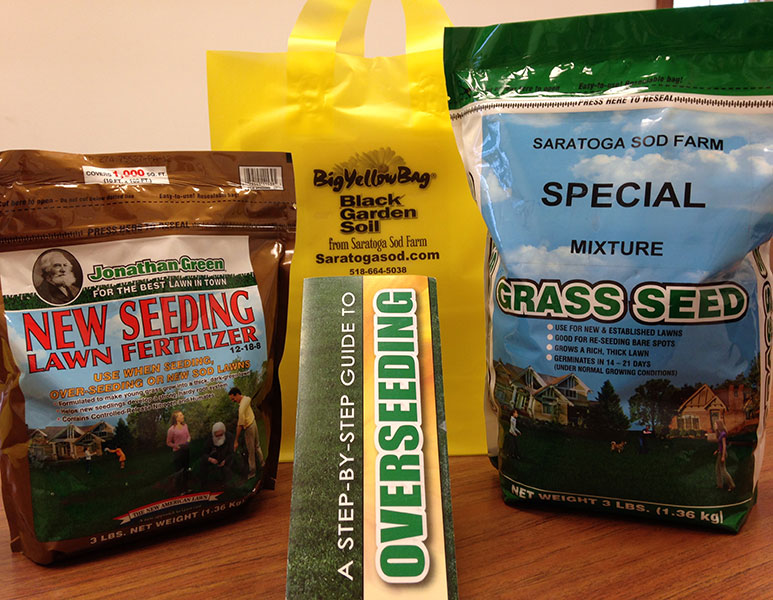 Saratoga Sod Farm overseeding kit